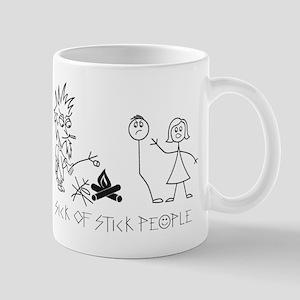 Sick of Stick People Camp Fire Mug