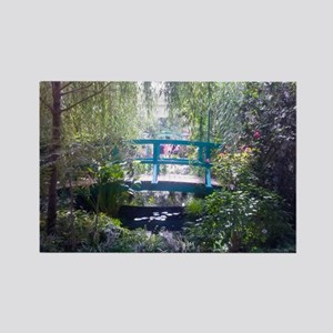 Monet Bridge Horizontal Rectangle Magnet