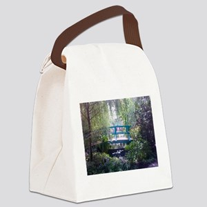 Monet Bridge Horizontal Canvas Lunch Bag