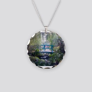 Monet Bridge Horizontal Necklace Circle Charm