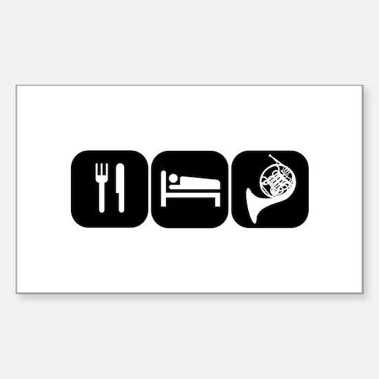 Eat Sleep Horn Sticker (Rectangle)