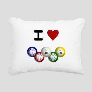 I LUV BINGO Rectangular Canvas Pillow