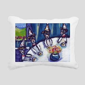 Rat Terrier B-day Rectangular Canvas Pillow