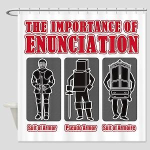 Enunciation Shower Curtain