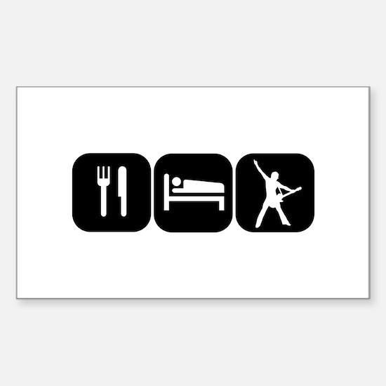 Eat Sleep Rock Sticker (Rectangle)