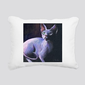 Sphynx Cat #13 Rectangular Canvas Pillow