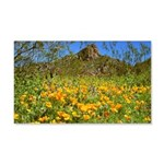 Picacho Peak Gold Poppies 20x12 Wall Decal