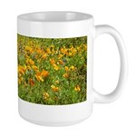 Picacho Peak Gold Poppies Large Mug