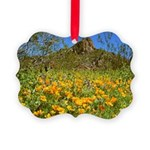Picacho Peak Gold Poppies Picture Ornament