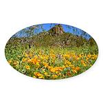 Picacho Peak Gold Poppies Sticker (Oval)