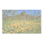 Picacho Peak Gold Poppies Sticker (Rectangle 10 pk