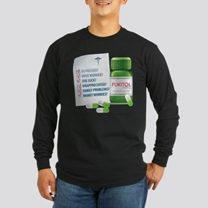 Widespread Disorder Long Sleeve Dark T-Shirt