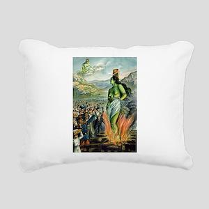Death of the Green Fairy Rectangular Canvas Pillow