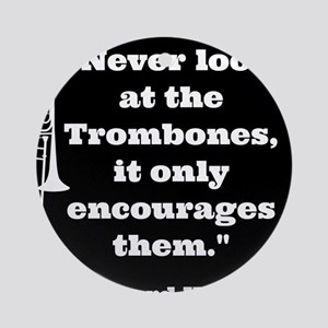 Trombone Wagner quote Ornament (Round)