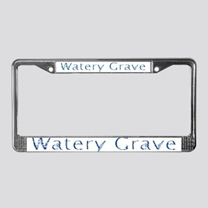 Watery Grave License Plate Frame