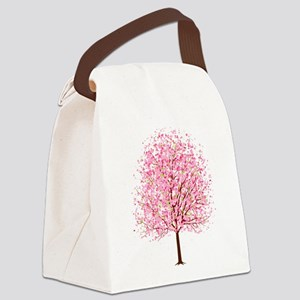 """""""CHERRY BLOSSOMS"""" Canvas Lunch Bag"""