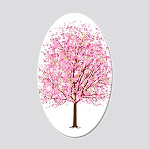 """""""CHERRY BLOSSOMS"""" 20x12 Oval Wall Decal"""