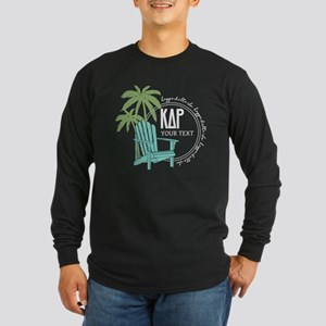 KDR Palm Tree Personalize Long Sleeve Dark T-Shirt