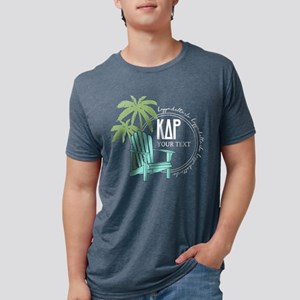 KDR Palm Tree Personalized Mens Tri-blend T-Shirt