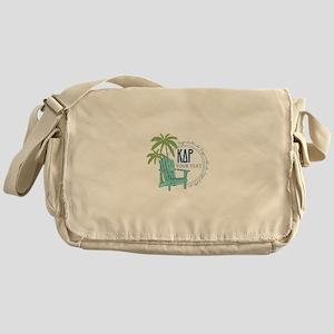KDR Palm Tree Personalized Messenger Bag