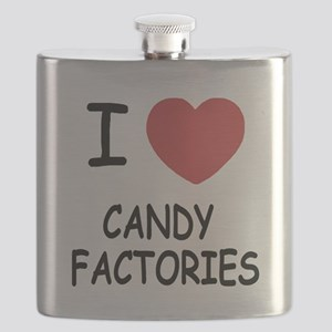 I heart Candy Factories Flask