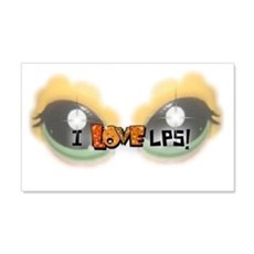 I LOVE LPS! Orange Wall Decal