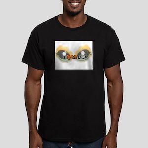 I LOVE LPS! Orange Men's Fitted T-Shirt (dark)