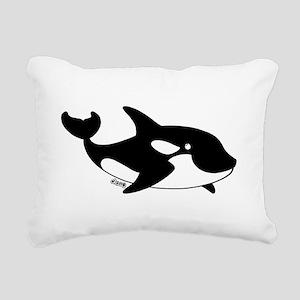 Killer Whale Rectangular Canvas Pillow