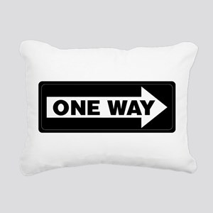 One Way Sign - Right - Rectangular Canvas Pillow
