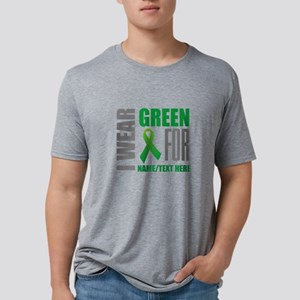 Green Awareness Ribbon Cust Mens Tri-blend T-Shirt