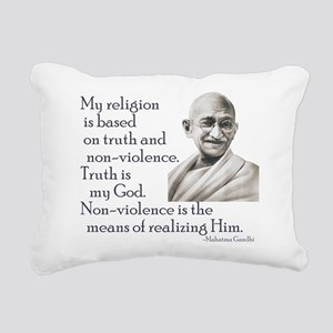 Gandhi quote - Truth is my Go Rectangular Canvas P