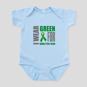 Green Awareness Ribbon Customized Infant Bodysuit