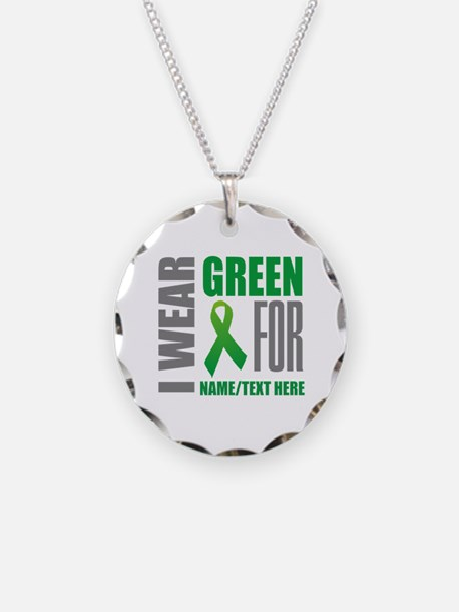 Green Awareness Ribbon Custo Necklace
