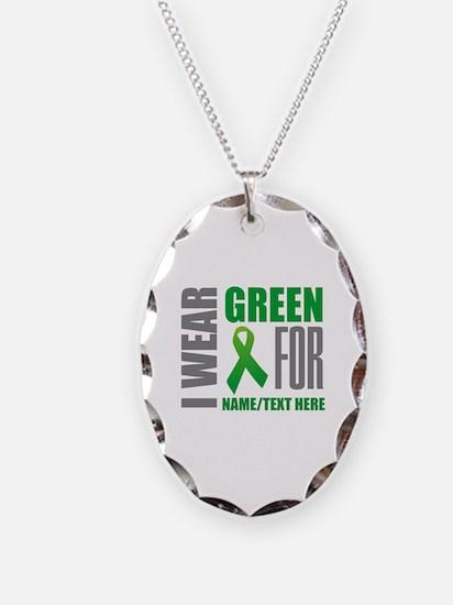 Green Awareness Ribbon Customi Necklace
