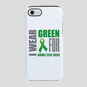 Green Awareness Ribbon Customi iPhone 7 Tough Case