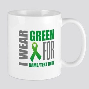 Green Awareness Ribbon Customize 11 oz Ceramic Mug