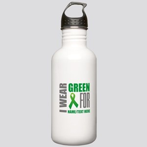 Green Awareness Ribbon Stainless Water Bottle 1.0L