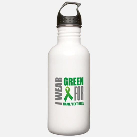 Green Awareness Ribbon Water Bottle