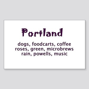 portland Oregon Sticker (Rectangle)