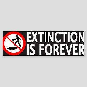Extinction Is Forever Sticker (Bumper)