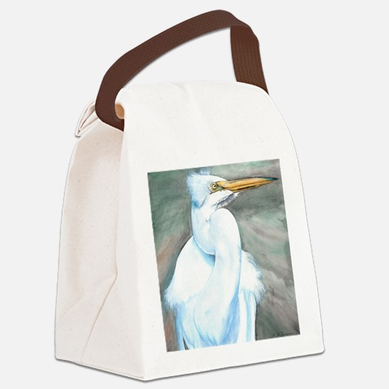 Great White Egret Canvas Lunch Bag