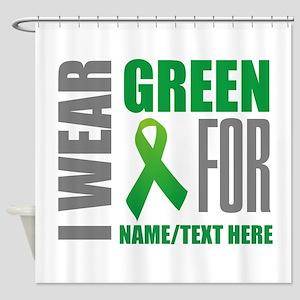 Green Awareness Ribbon Customized Shower Curtain