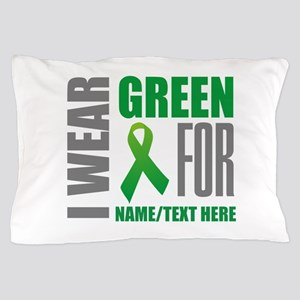 Green Awareness Ribbon Customized Pillow Case