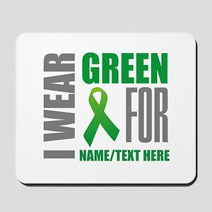 Green Awareness Ribbon Customized Mousepad