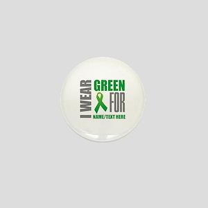 Green Awareness Ribbon Customized Mini Button