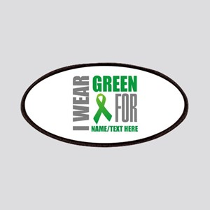 Green Awareness Ribbon Customized Patch