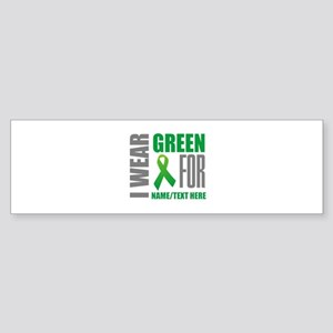 Green Awareness Ribbon Customized Sticker (Bumper)