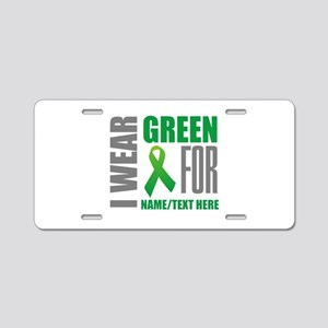 Green Awareness Ribbon Cust Aluminum License Plate
