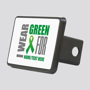 Green Awareness Ribbon Cus Rectangular Hitch Cover