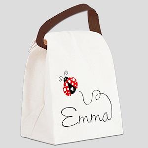 Ladybug Emma Canvas Lunch Bag